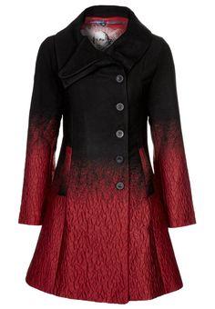 Desigual SUEÑOS LÍQUIDOS - Wool coat, red black ombre / gradient