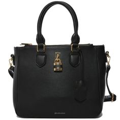 Mechaly Women's Aimee Black Vegan Leather Shoulder Handbag-Women - Bags - Shoulder Bags-Look Love Lust,  https://www.looklovelust.com/products/mechaly-womens-aimee-black-vegan-leather-shoulder-handbag
