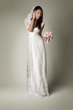 The VWDC By Charlie Brear (formerly 'The Vintage Wedding Dress Company) Trunk Sale, February, London Empire Style Wedding Dresses, Wedding Dresses London, Vintage Inspired Wedding Dresses, Modest Wedding Dresses, Designer Wedding Dresses, Vintage Inspiriert, Chiffon, The Dress, Bridal Gowns