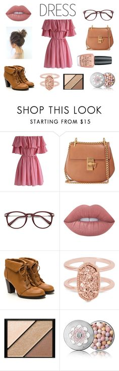 """#offshoulderdress"" by taylorgarcia-iii ❤ liked on Polyvore featuring Chicwish, Chloé, Lime Crime, Kendra Scott, Elizabeth Arden, Guerlain and OPI"