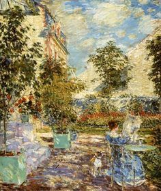 Childe Hassam In a French Garden 1897