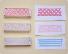 3 pcs hand carved rubber stamps washi tape AT CHOICE. $25.00 USD, via Etsy.
