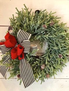 68 Amazing Holiday Wreaths for your Front Door - Happily Ever After, Etc. wreaths 68 Amazing Holiday Wreaths for your Front Door - Happily Ever After, Etc. Noel Christmas, Rustic Christmas, Christmas Crafts, Christmas Ideas, Christmas Quotes, Winter Christmas, Traditional Christmas Decor, Christmas 2018 Trends, Christmas Greenery
