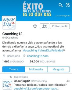 Ya somos más de 24.000 seguidores en Twitter!!!! Gracias por hacerlo posible gracias por compartirnos gracias por apoyar nuestros sueños y gracias a todos los que habéis apostado por nosotros para acompañaros. Seguimos!  #coaching #coaching12 #coachingonline #coachingbarcelona #barcelona #twitter