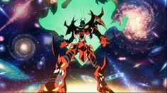 Looks like a size comparison chart, of various galaxies in the universe, compared to GURREN LAGANN!