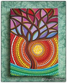 Tree of Vibrant Life Painting by Elspeth McLean #elspethmclean #vibrant #treeoflife