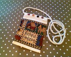 Faithful Companion    Mini Crossbody by tonilovesbuttons on Etsy, $19.00