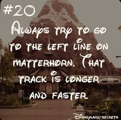 "The post ""Which line for Disneyland Matterhorn is better? The left track of the Disneyland Matterhorn is faster and longer while the right track is smoother, calmer, and shorter"" appeared first on Pink Unicorn Secrets Disneyland Halloween, Disneyland Paris, Disneyland Secrets, Disneyland Vacation, Disney Secrets, Disneyland California, Disney Tips, Disney Vacations, Disney Love"