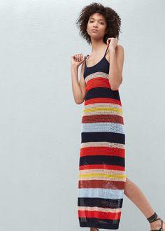 Vestido croché algodão | MANGO
