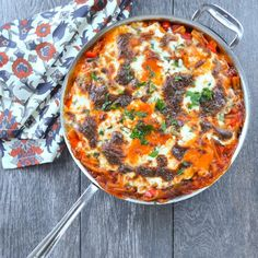 One Pot Lasagna Pasta Skillet. So much easier then traditional lasagna but even more delicious!