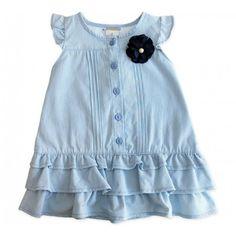 Vestido Infantil Listrado Azul Milon