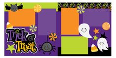 Trick or Treat 2 Page Scrapbook Page Kit (40% off for Members)