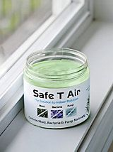 Safe T Air Naturally prevent odors, mold, mildew, bacteria and fungus. Made with Tea Tree Oil, nature's most powerful antiseptic, anti-bacterial and deodorizer. Suspended in this thick gel, it slowly evaporates to gently circulate and clean indoor air. Your home's circulation system carries it from room to room to prevent and control mold, mildew, bacteria, fungus and odors. 14 oz. Use one for every 400 sq. ft. Lasts for up to 90 days. #deodorizer #pet products