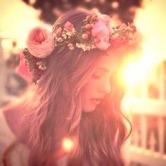 Bohemian floral head piece #boho