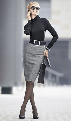 Fall & Winter Office Outfit Ideas for Business Ladies 2018 - Office Fashion Business Dress Code, Business Dresses, Business Outfits, Business Fashion, Business Attire, Business Women, Business Lady, Business Casual, Winter Office Outfit