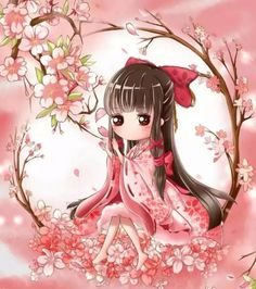 Kawaii Anime Girl, Anime Art Girl, Geisha Art, Chibi Girl, Anime Dolls, Creative Pictures, Kokeshi Dolls, Cute Chibi, Anime Chibi