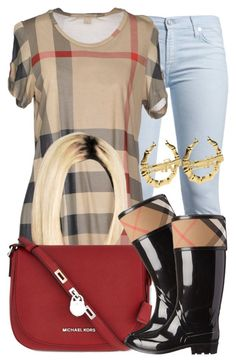 """""""Burberry x MK ."""" by perfectlyy-imperfect ❤ liked on Polyvore featuring 7 For All Mankind, Burberry and MICHAEL Michael Kors"""