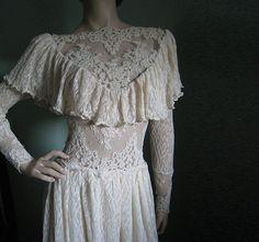 Victorian vintage lace wedding dress