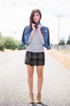 What to Wear With Your Stylish Plaid Skirt