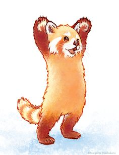 red panda says hi – Baak Turn Animals Panda Illustration, Baby Animals, Funny Animals, Cute Animals, Cute Animal Drawings, Cute Drawings, Neotraditional Tattoo, Panda Drawing, Panda Sketch