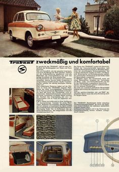 1961 - Trabant - Seite 2 East German Car, Veteran Car, East Germany, Car Advertising, Small Cars, Limousine, Old Cars, Old Photos, Motorbikes
