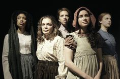 Rehearsals are an extraordinary experience with this amazing story and these fearless actors: L to R: McKenzie Chinn, Caitlin Chuckta, Lindsay Tornquist, Patty Malaney, Cassandra Schiano. Irish Famine, Theatre Reviews, Playwright, Belfast, Lgbt, Lesbian, Actors, Couple Photos, American