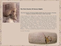 Cyrus Cylinder - 2600 years of history in one object. Ancient Aliens, Ancient History, Art History, Ancient Mesopotamia, Ancient Civilizations, Cyrus The Great, Achaemenid, Ancient Persia, Persian Culture