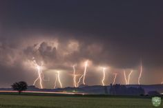 "Lightning over Southwest Germany near the ""Bodensee""!!"