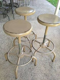 vintage metal stools-I still have these in my art classroom