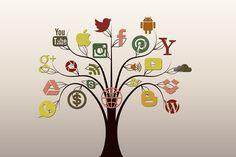 Médias Sociaux, Arbre, Structure, Internet, Réseau