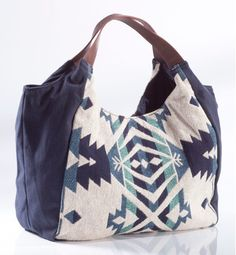 Sac toile broderie Ikat