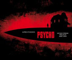 Psycho Alfred Hitchcock Minimalist Movie by SuddenGravityPosters
