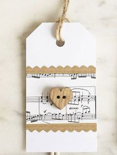 Make Christmas tags:: make a layered paper gift tag with heart button…