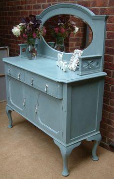 Stunning Duck Egg Blue Vintage Sideboard