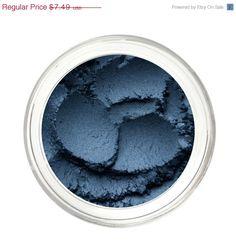 SALE DARK CRYSTAL  Mineral Blue Eyeshadow Mineral by NoellaBeauty, $4.87