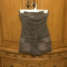 Denim romper Gray denim romper from forever 21, size small and in great condition only worn once Forever 21 Other
