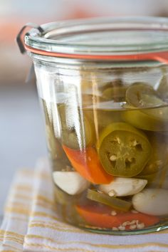 Pickled Jalapenos - FoodieCrush  Now I know what I am going to do with all of the jalapenos from my garden!