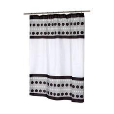 Carnation Home Fashions Metro Fabric Shower Curtain #CarnationHomeFashions #Modern
