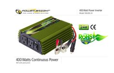 Dca power inverters provide you 24v inverter. We will provide you many models of model ml 400-24 have 24volt dc to 110 volt ac inverter. We will provide you many models of inverters. We will provide you fully guarantee for our inverters. for more detail visit on http://www.dcacpowerinverters.com/24_volt_power_inverters.html .