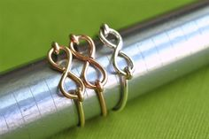 Infinity Ring in your choice of metal (sterling silver, yellow gold filled, or rose gold filled) -  muyinjewelry.com