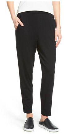 Crop Stretch Knit Pants