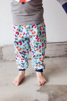 Flannel pjs with knit cuff and waist band