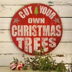 Christmas Tree Sign Retro Cut Your Own by SlippinSouthern on Etsy ($98.00)
