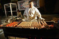 Everyone eats kabobs at the Persian Festival. Photo credit Kaia Diringer