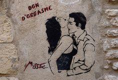 Don d'orgasme by Miss-Tic / Street graffiti