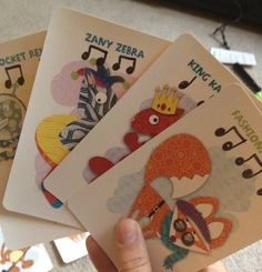 """""""Old Maid"""" for rhythms - students can even create their own character to play with - love the Target dollar bin!"""