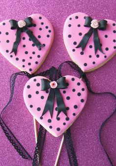 Cute way to decorate our heart cookie cutters