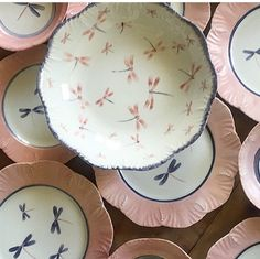 Hand painted crockery by Andrea Zarraluqui