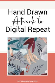 If you love creating your artwork and design motifs by hand before creating you repeat patterns, then here are some tips you should consider before you start. These tricks will help speed up your design process when creating seamless pattern repeats for your surface pattern design or textile design business. #repeatpattern #patterndesign #repeat Kids Patterns, Floral Patterns, Graphic Patterns, Elements Of Art, Design Elements, Textile Design, Fabric Design, Memphis Art, Inspiration For Kids