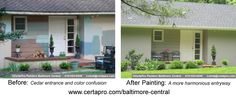 Color confusion reigned in this newly-purchased rancher in Towson's Hampton Community. CertaPro Painters provided a complimentary color consult to strike a harmonious balance for the new home owners.